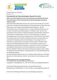 2013-14 Gesundheitsregion Bayreuth - Stadt Bayreuth