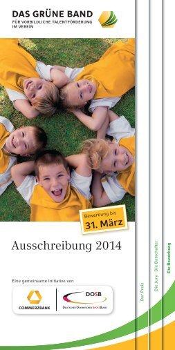 Ausschreibung 2014 Ausschreibung 2014 - Bayerischer Golfverband