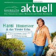 Hansi Hinterseer - Stadt Bayreuth