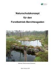 Naturschutzkonzept für den Forstbetrieb Berchtesgaden