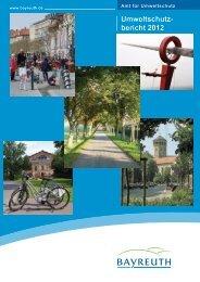 Umweltschutzbericht 2012 - Stadt Bayreuth