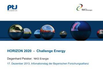 Challenge Energy - Bayerische Forschungsallianz