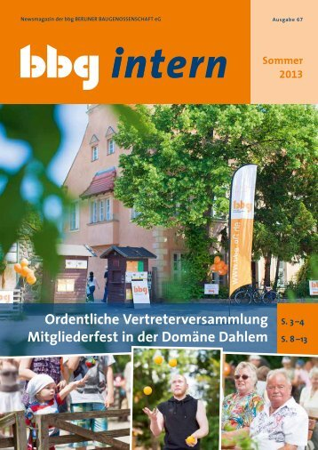 bbg intern 67 - Berliner Baugenossenschaft eG