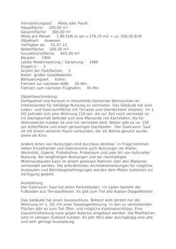 Trotte Wiesendangen Information und Reservation