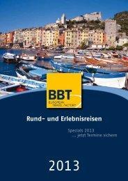 Rund- und Erlebnisreisen - BBT