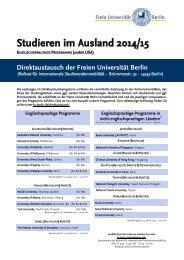 Studium und Praktikum im Ausland