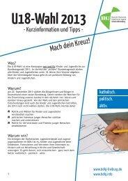 U18-Wahl - der BDKJ in der Erzdiözese Freiburg