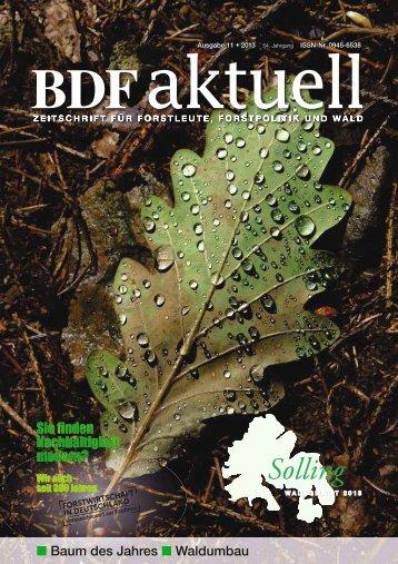 Ausgabe 11/2013 - Bund Deutscher Forstleute