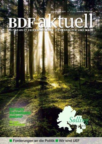 Ausgabe 10/2013 - Bund Deutscher Forstleute (BDF)