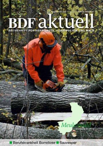 Berufskrankheit Borreliose Sauvesper - Bund Deutscher Forstleute