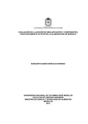 evaluación de la adición de emulsificantes y componentes ...