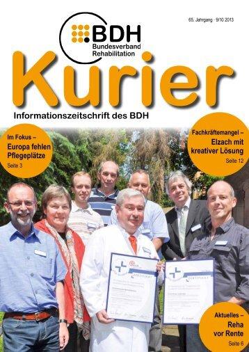 Kurier 9/10 2013 - BDH Bundesverband Rehabilitation