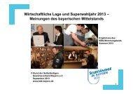 Wirtschaftliche Lage und Superwahljahr 2013 - Bund der ...