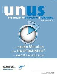 UNUS Ausgabe 02 / 2013 - Bund der Selbständigen (BDS ...