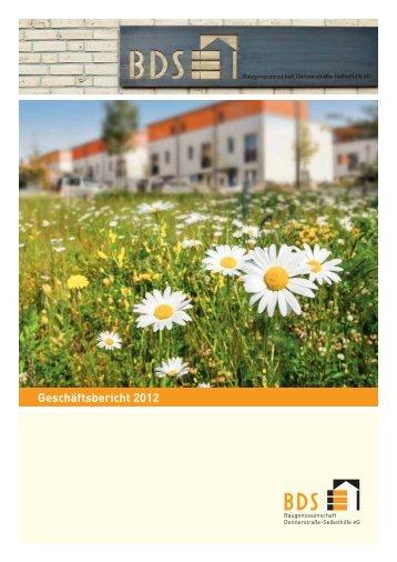 PDF, 4 MB, Geschäftsbericht 2012 - BDS Baugenossenschaft ...
