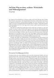 Auf dem Weg zu einer »echten« Wirtscha s- und ... - BEIGEWUM
