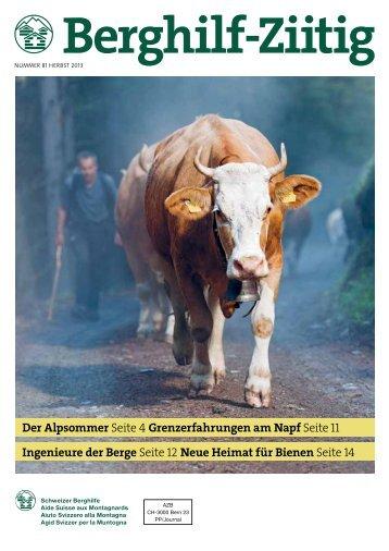 Download PDF: Berghilf-Ziitig Herbst 2013 - Schweizer Berghilfe