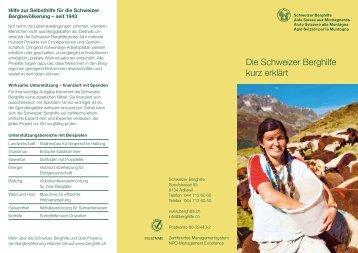 Die Schweizer Berghilfe kurz erklärt (231 kB)