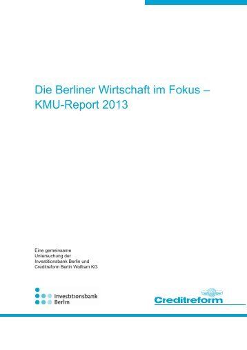 KMU-Report 2013 - Investitionsbank Berlin