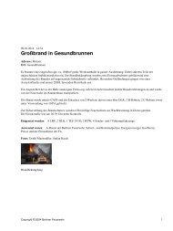 Großbrand in Gesundbrunnen - Berliner Feuerwehr