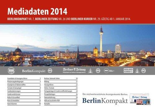 Mediadaten 2014 - Berliner Zeitung