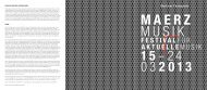 Matthias Osterworld über MaerzMusik 2013 - Berliner Festspiele