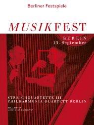 Abendprogramm Philharmonie Quartett Berlin 15.09.2013 - Berliner ...
