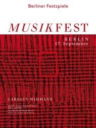 Abendprogramm Carolin Widmann 17.09.2013 - Berliner Festspiele