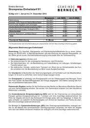 Grundpreistarif 01 (Einheitstarif) - in der Gemeinde Berneck