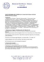 Protokoll Hauptversammlung 2014 - Berner Sportkeglerverband BSKV