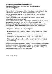 3. Ausbildungsjahr - Berufsbildung NRW