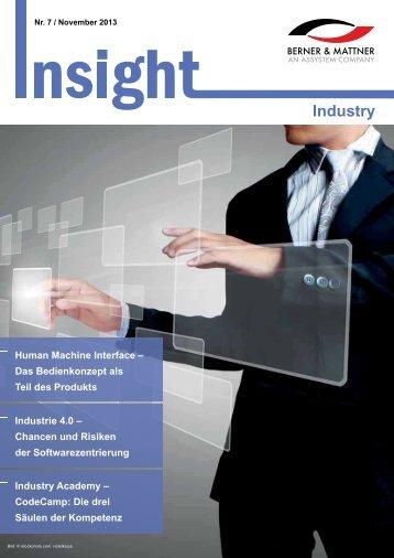 7. Newsletter 'Insight Industry' (pdf 1,6 MB) - Berner & Mattner