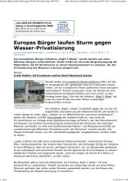 Europas Bürger laufen Sturm gegen Wasser-Privatisierung ...