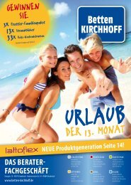 Beilage Urlaub (PDF 7,2 MB) - Betten KIRCHHOFF