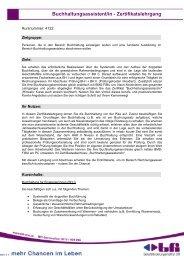 Buchhaltungsassistent/in - Zertifikatslehrgang