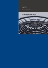 Kammerbericht 2013 - beim Bundesverband für freie Kammern eV