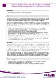 Fachsozialbetreuer/in mit Schwerpunkt Behindertenarbeit