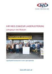 Informationsfolder Ihr Weg zur Lagerleitung - BFI Wien