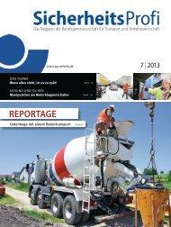 SicherheitsProfi 7/2013 - Berufsgenossenschaft für Transport und ...
