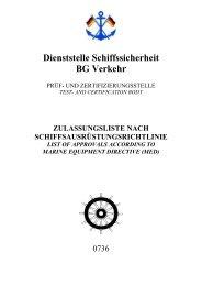 Dienststelle Schiffssicherheit BG Verkehr - Berufsgenossenschaft für ...