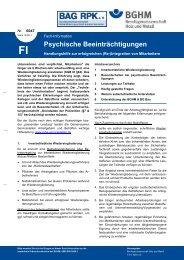 Psychische Beeinträchtigungen - Berufsgenossenschaft Holz und ...