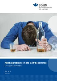 Alkoholprobleme in den Griff bekommen - Berufsgenossenschaft ...