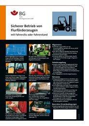 Sicherer Betrieb von Flurförderzeugen mit Fahrersitz oder Fahrerstand