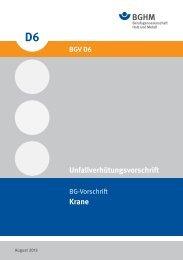 BGV D6 - Berufsgenossenschaft Holz und Metall