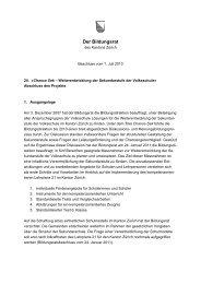 Abschluss des Projekts 3 - Bildungsdirektion - Kanton Zürich