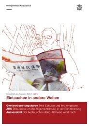 Ausgabe 1/2014 (PDF, 11 MB) - Bildungsdirektion - Kanton Zürich