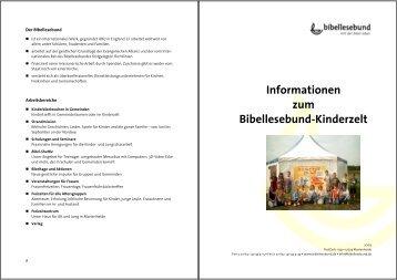 Informationen zum Bibellesebund-Kinderzelt