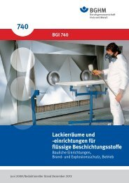 Explosionsschutzdokument - Berufsgenossenschaft Holz und Metall