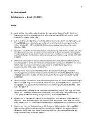 Publikationen - Universitätsbibliothek Augsburg - Universität Augsburg