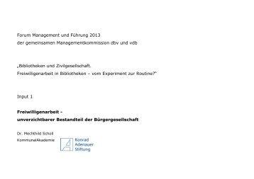 Forum Management und Führung 2013 der gemeinsamen ...